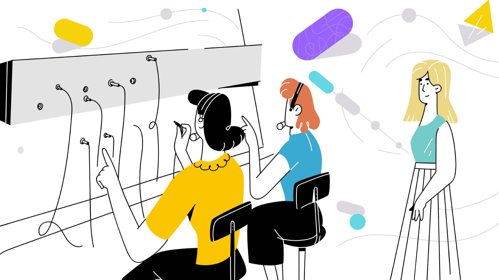 illustration for whiteboard explainer video - Cloud Telephony