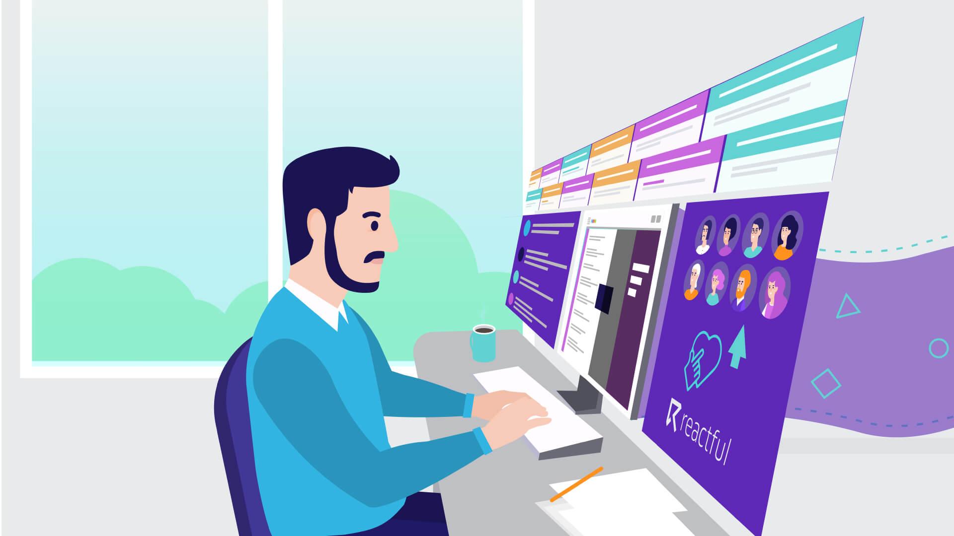illustration for animated video explainer - Reactful