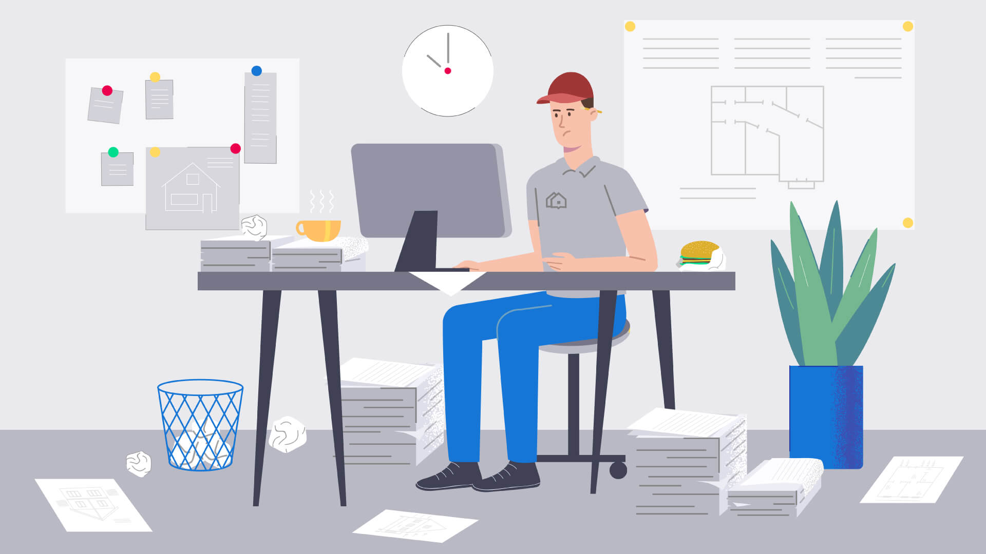 illustration for animation explainer video - Invoice2go